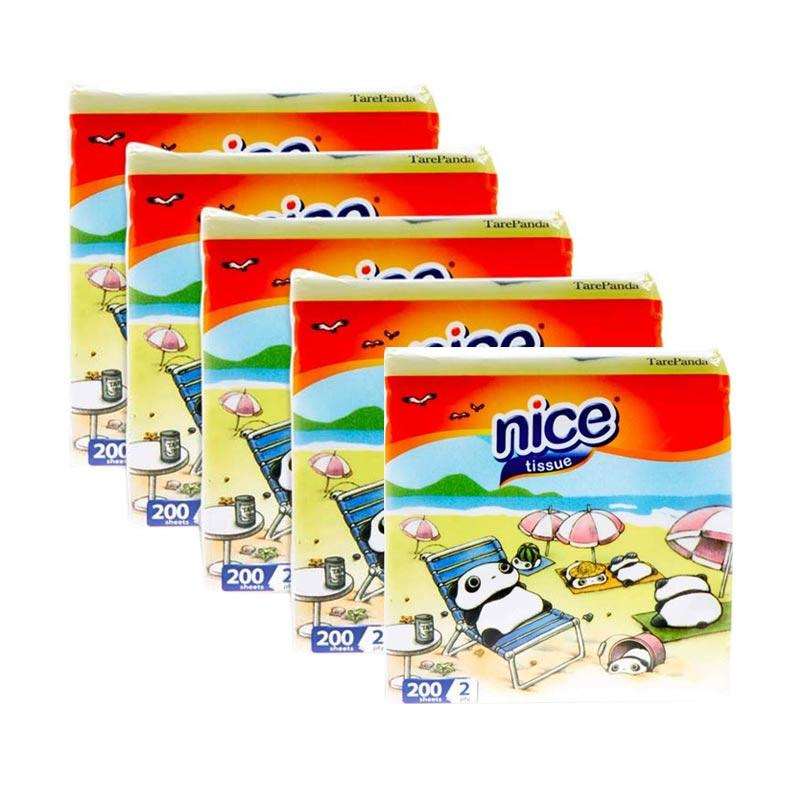 Nice Facial Pop Up + Dispenser Multi Pack [5 pcs x 2 Ply/200 sheets]