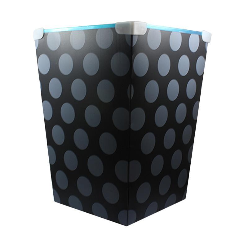 Tokokadounik Home Polakdot Foldable Plastic Dustbin