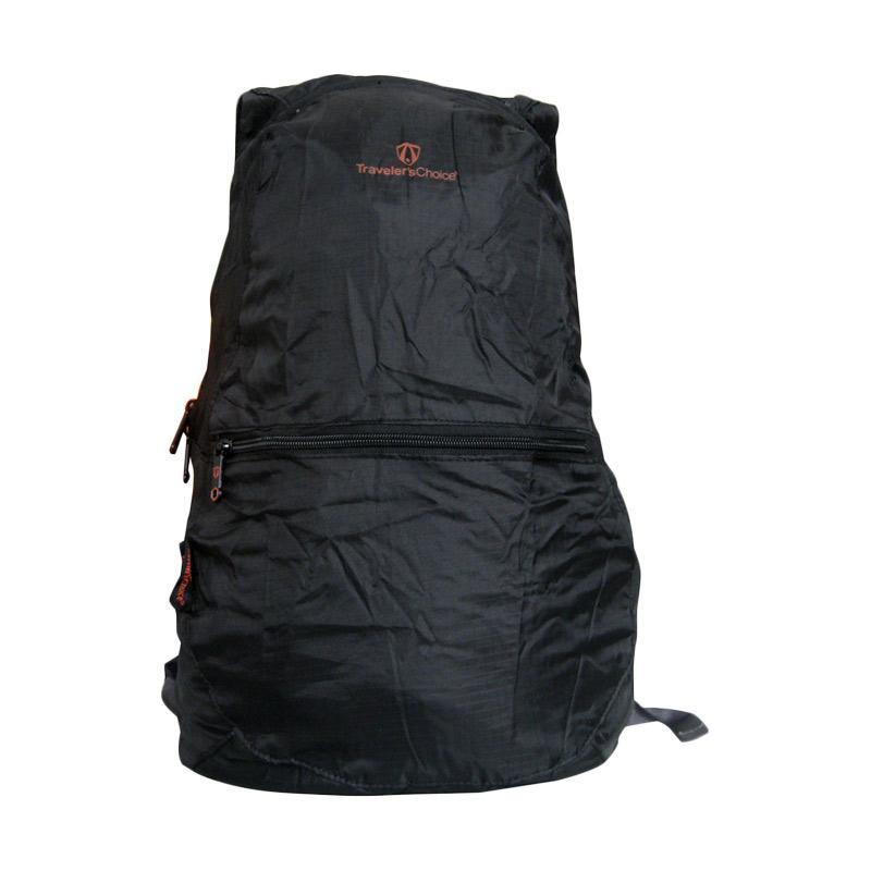 Traveler's Choice Foldable Backpack - Black