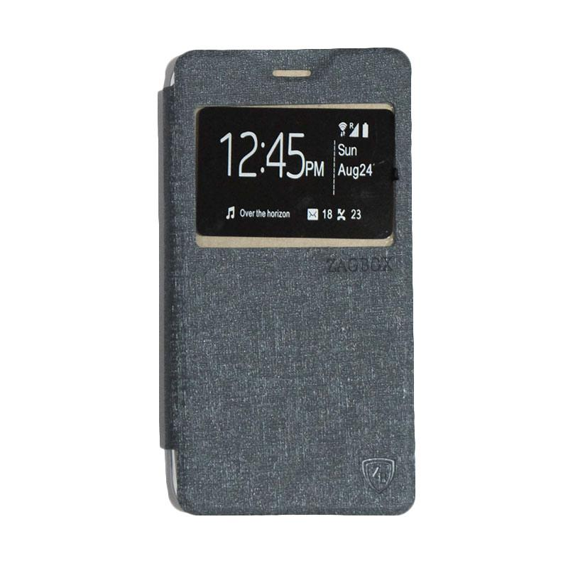 ZAGBOX Flip Cover Casing for Lenovo A6600 - Silver