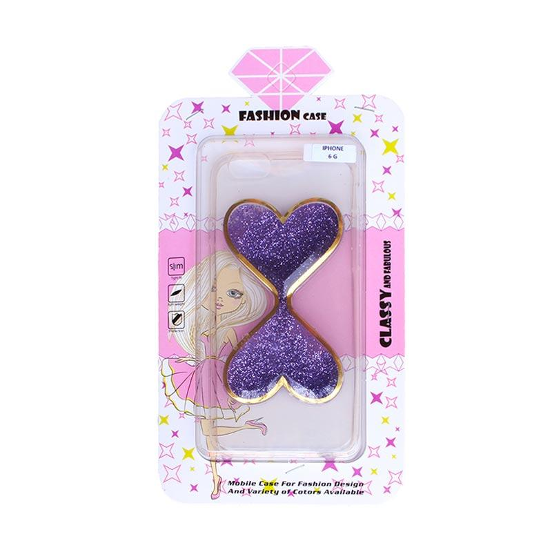 Fashion Case Gliter Love Casing for iPhone 6/iPhone 6S - Purple
