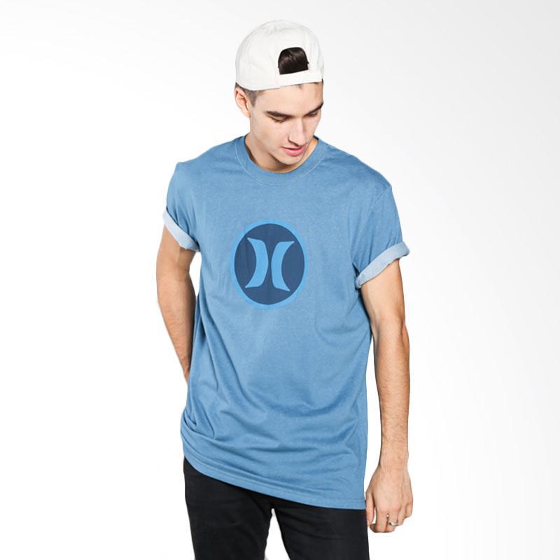 Hurley AMTSBKDF-H4GD Block Party T-shirt - Blue Extra diskon 7% setiap hari Extra diskon 5% setiap hari