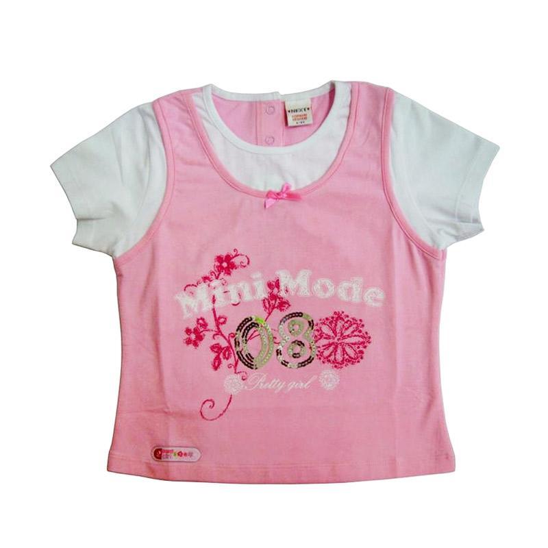 Wonderland Mini Mode T-Shirt Anak - Pink