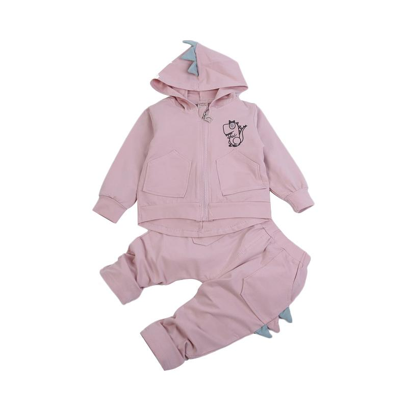 Chloe Babyshop F969 3D Dino Set Baju Anak - Pink