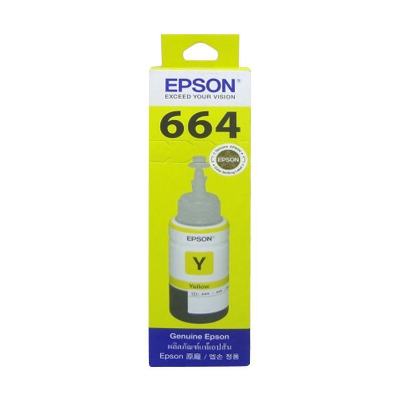 Epson 664 T6644 Original Tinta Printer - Yellow [70ml]