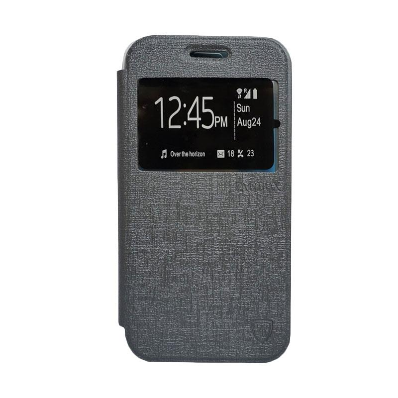 Zagbox Flip Cover Casing for Samsung Galaxy S7 Edge - Abu-abu