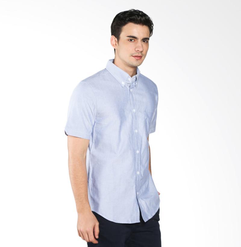A&D MS 1216-531 Fashion Short Sleeve Mens Shirt - Blue