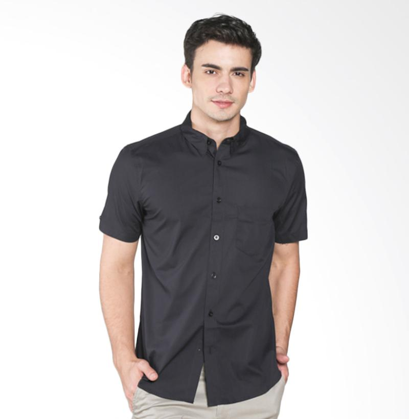 A&D MS 1216-533 Fashion Short Sleeve Mens Shirt - Black