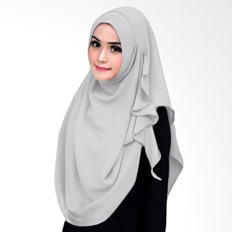 Kus_group Flowing Hijab Instant - Silver