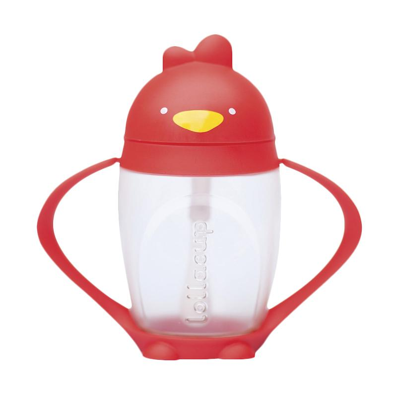 Lollaland Innovative Straw Cup - Red [10 oz/ 296 mL]