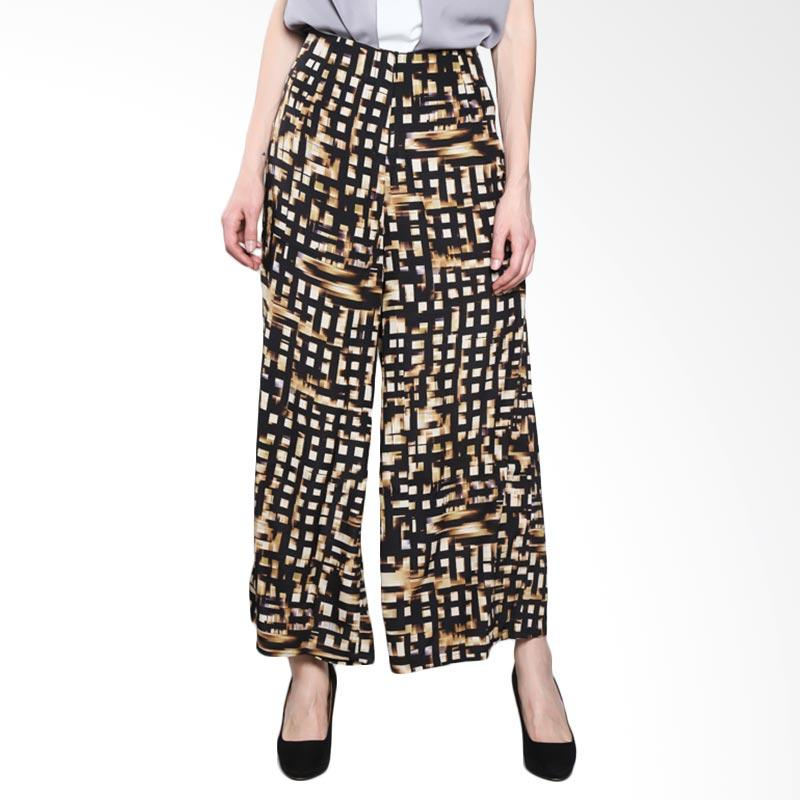 PS Career Printed Palazzo Pants PC704NJ60076 Celana Wanita - Gold