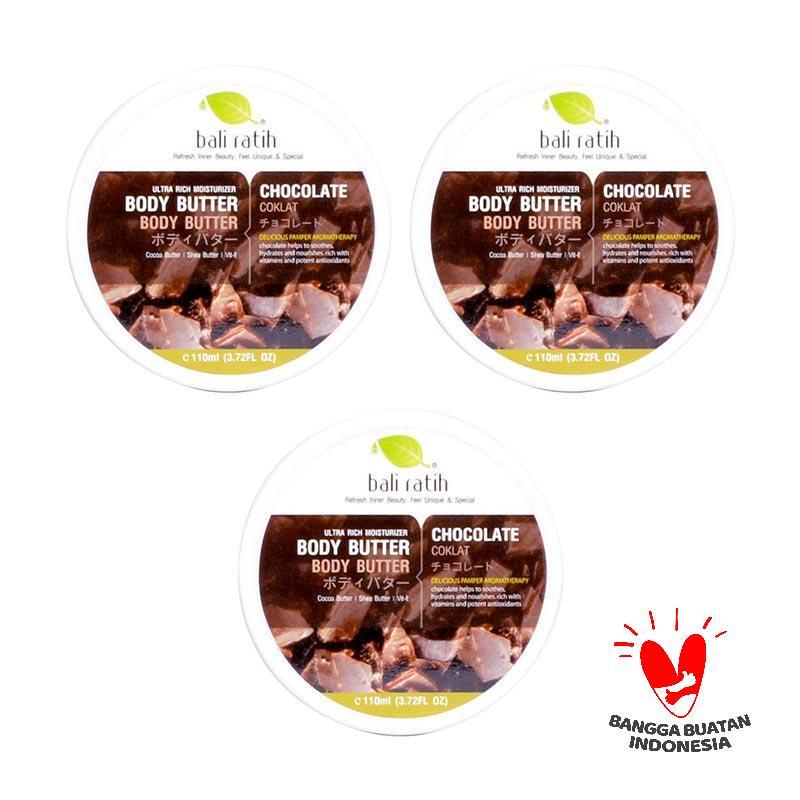 Jual Bali Ratih Paket Body Butter - Chocolate [110 mL @3 Pcs] Online - Harga & Kualitas Terjamin   Blibli.com