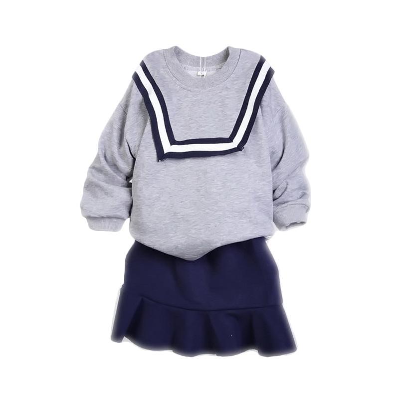 Chloe Babyshop Korea Rok F945 Setelan Anak Perempuan - Grey