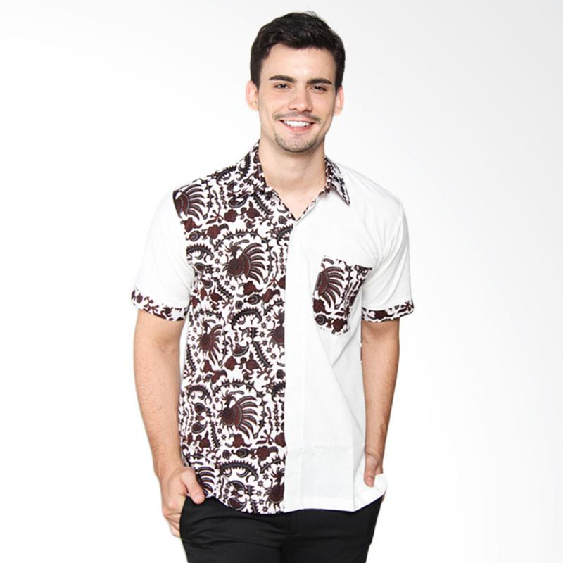 Djoemat Gembira K16-07-01 Kemeja Batik Pria - Putih