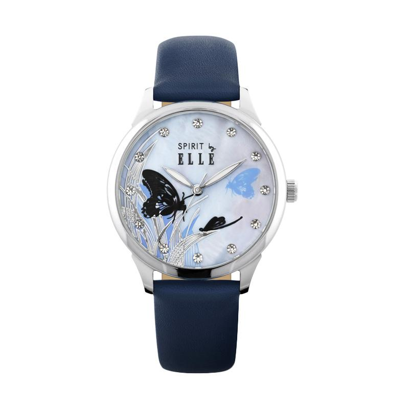 Elle Spirit ES20087S01X Leather Jam Tangan Wanita - Navy