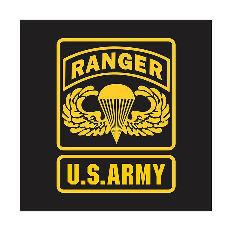 US Army Ranger Wing Parachute Cutting Sticker