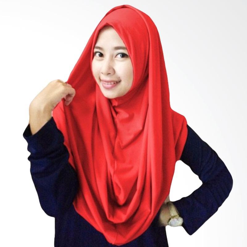 Milyarda Hijab Long Syria Kerudung - Merah
