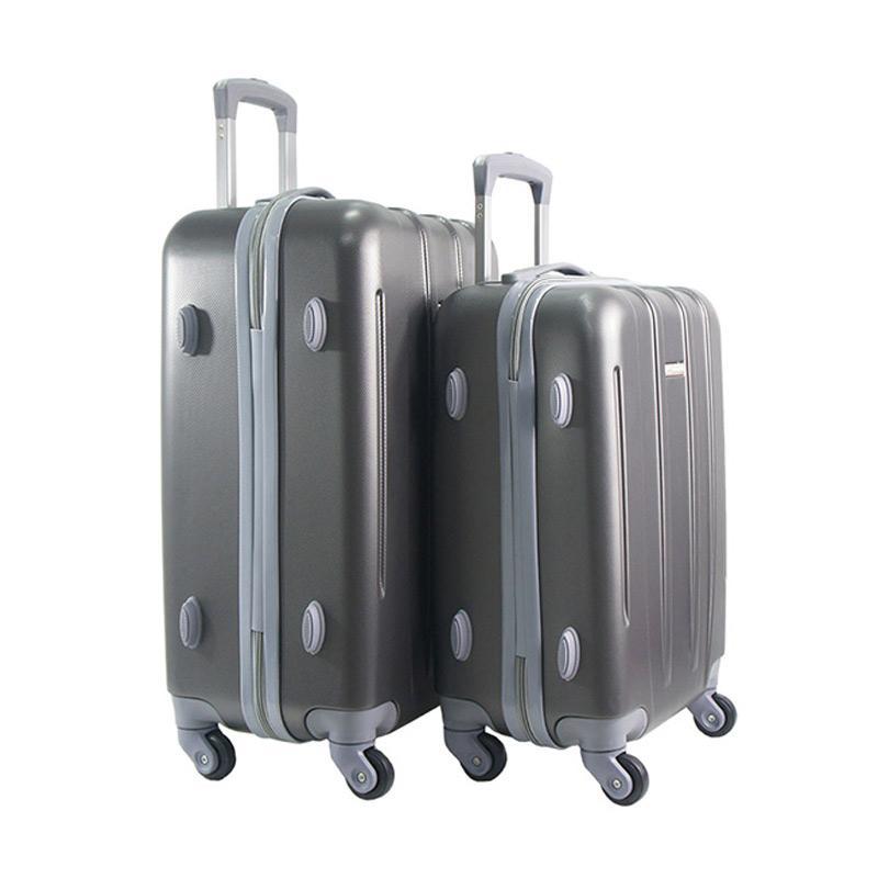 Polo Twin HD 1612 Troley Bag Set - Grey [18 dan 22 Inch]