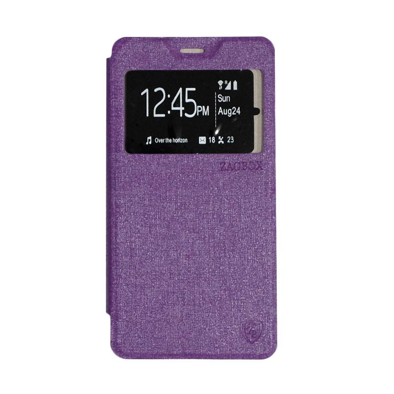 ZAGBOX Flipcover Casing for Lenovo A7700 - Purple