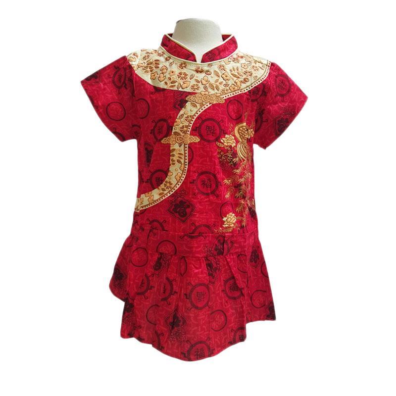 Chloe Babyshop CNY Merak Pinggul F725 Dress Anak - Merah