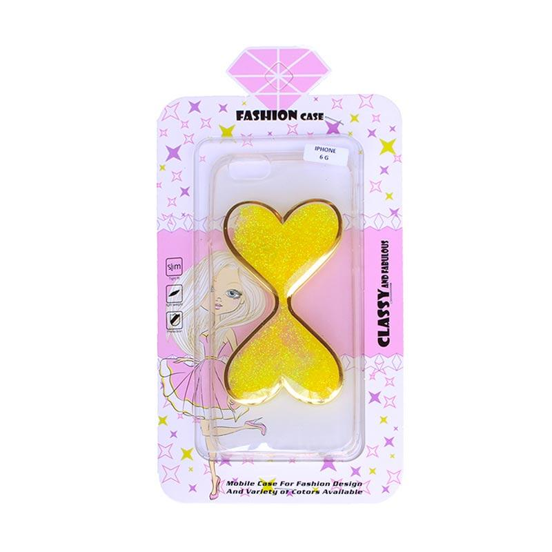 Fashion Case Gliter Love Casing for iPhone 6/iPhone 6S - Yellow