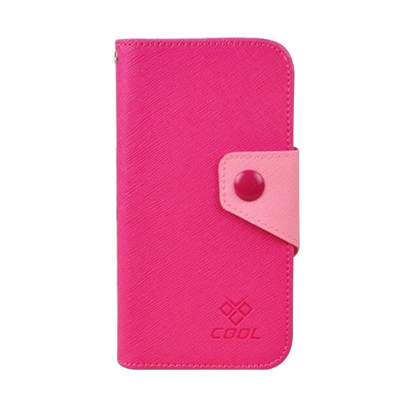 OEM Rainbow Flip Cover Casing for Moto X - Merah Muda