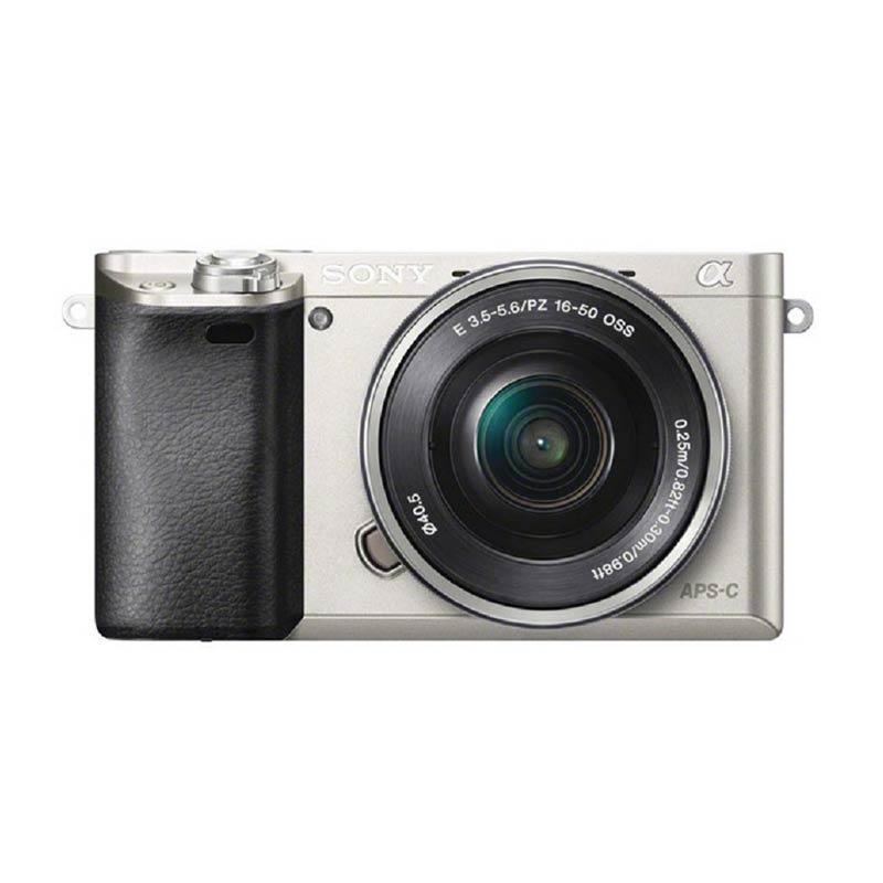SONY Alpha A6000 Kit 16-50mm Kamera Mirrorless - Silver ( RESMI PT SONY INDONESIA )