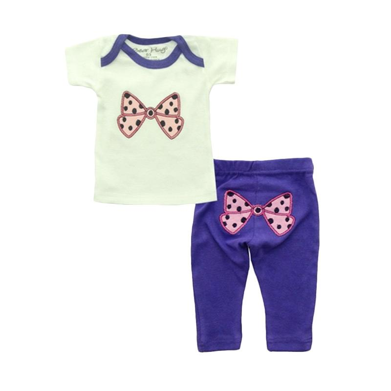 Bearhug Baby Girl Purple Bow Set Pakaian Anak [2 Pcs]