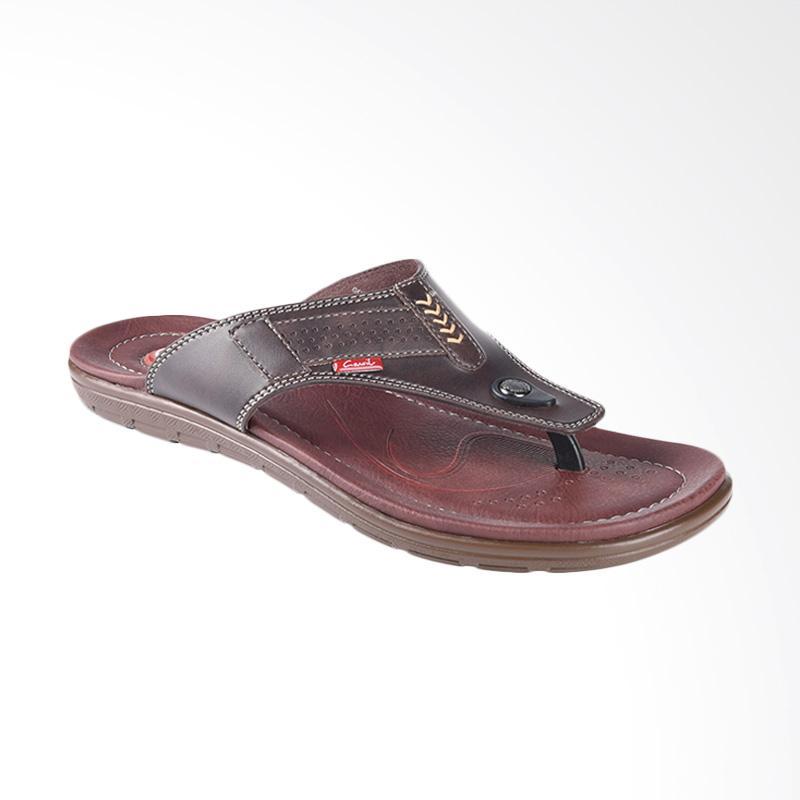 harga Carvil Golovkin Sandal Casual Pria - Dark Brown 231M Blibli.com