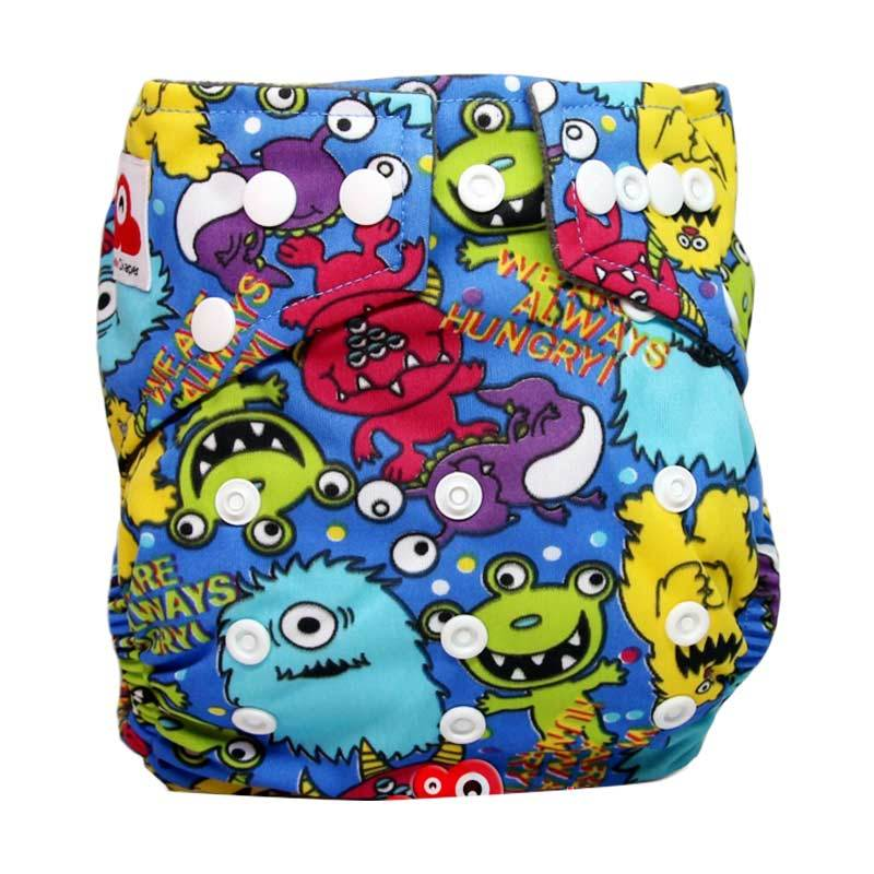 Clothcodile Charchoal - Bamboo Diaper + 2ins Alien