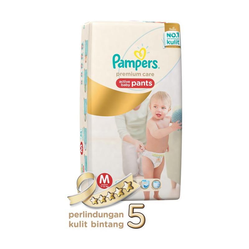 Pampers Premium Care Pants M Diaper Bayi [46 Pcs]