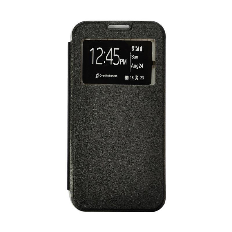 Smile Flip Cover Casing for Samsung Galaxy Grand 2 - Hitam