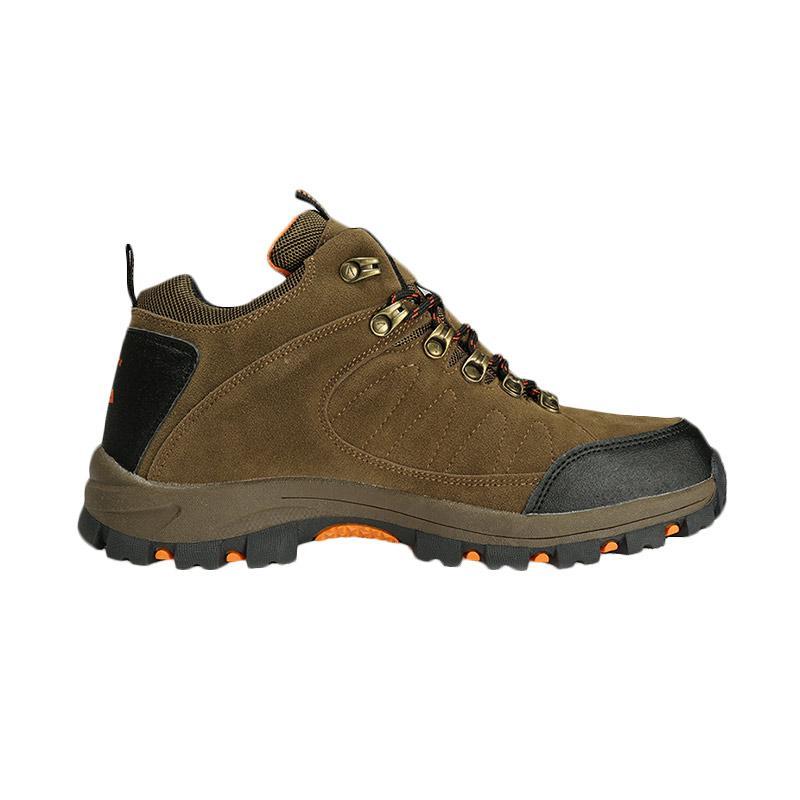 Snta 470 Sepatu Gunung Waterproof - Brown Orange