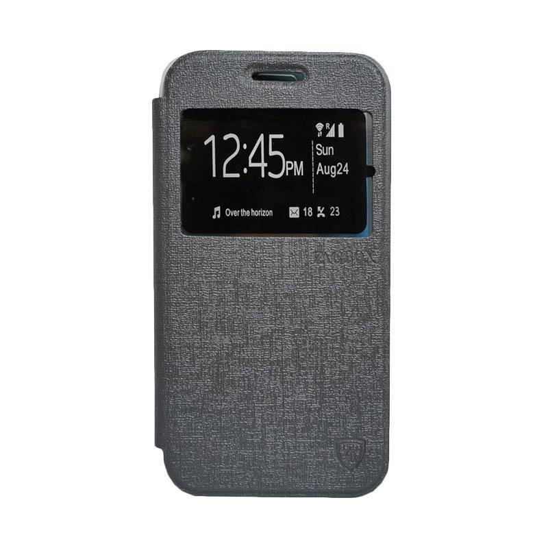Zagbox Flip Cover Casing for Samsung Galaxy Note 7 - Abu-abu
