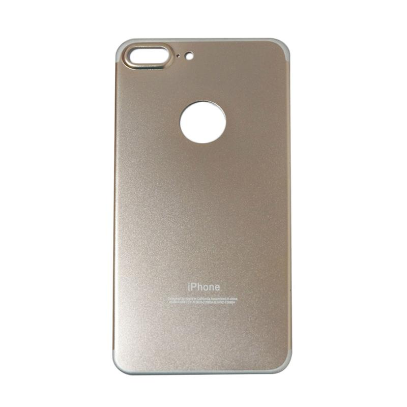 QCF Tempered Glass Aluminium Alloy Back Protector (Belakang Saja) for iPhone 7 Plus / Iphone 7Plus / Iphone 7+ 5.5 Inch Pelindung Belakang - Gold