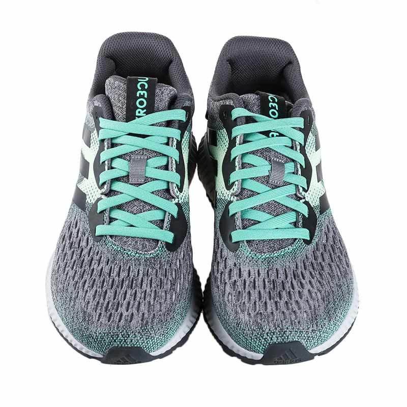 38. adidas Women Running Aerobounce Shoes Sepatu Lari Wanita - Green Grey 1d16051554