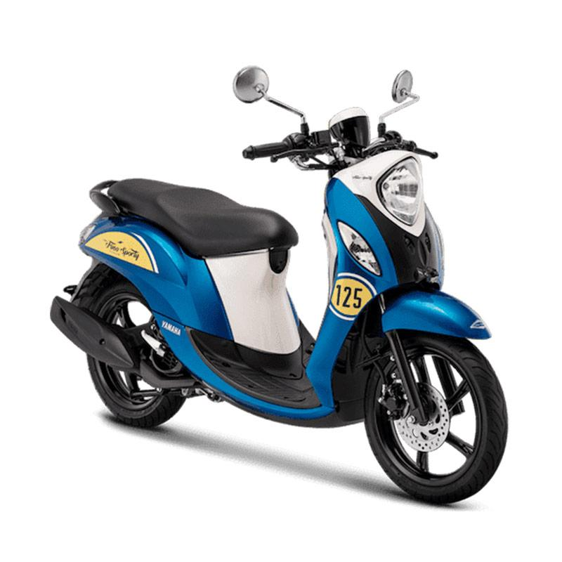 Yamaha New Fino Sporty 125 Blue Core Sepeda Motor [VIN 2019/ OTR Jawa Barat]