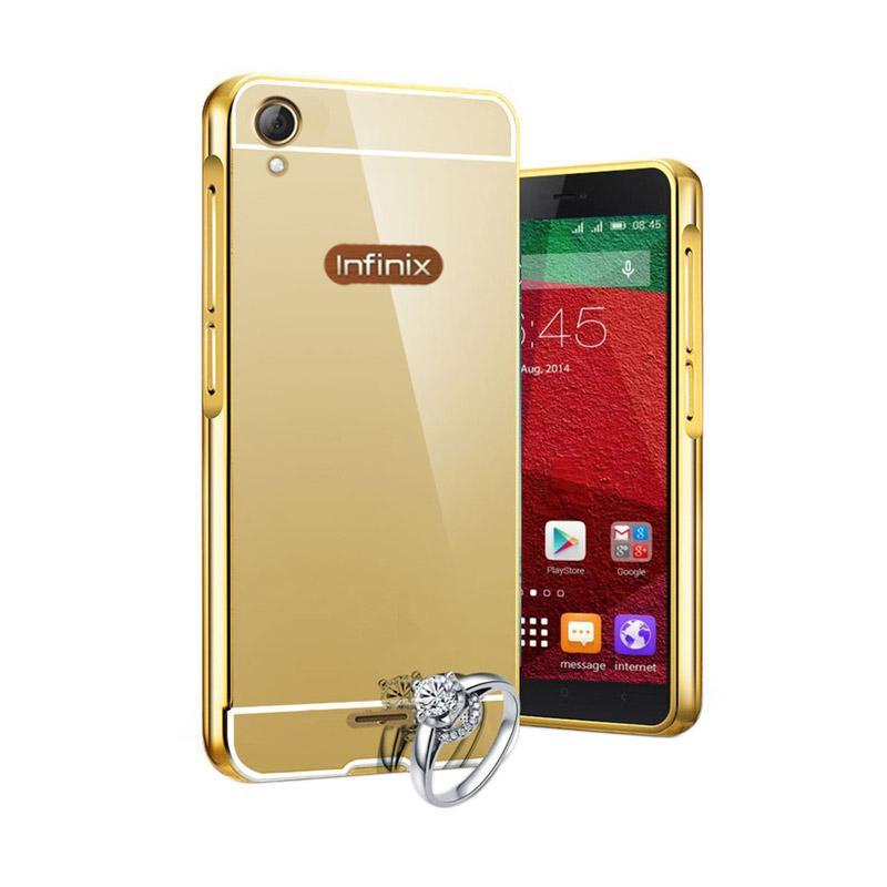 harga ALS Aluminium Bumper Mirror Casing for Infinix Hot 2 X510 - Gold Blibli.com