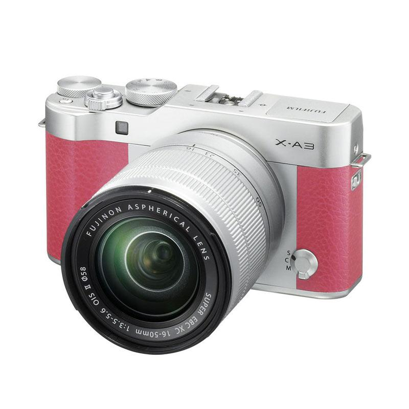 Fujifilm X-A3 Kamera Mirrorless with 16-50mm Lens - Pink