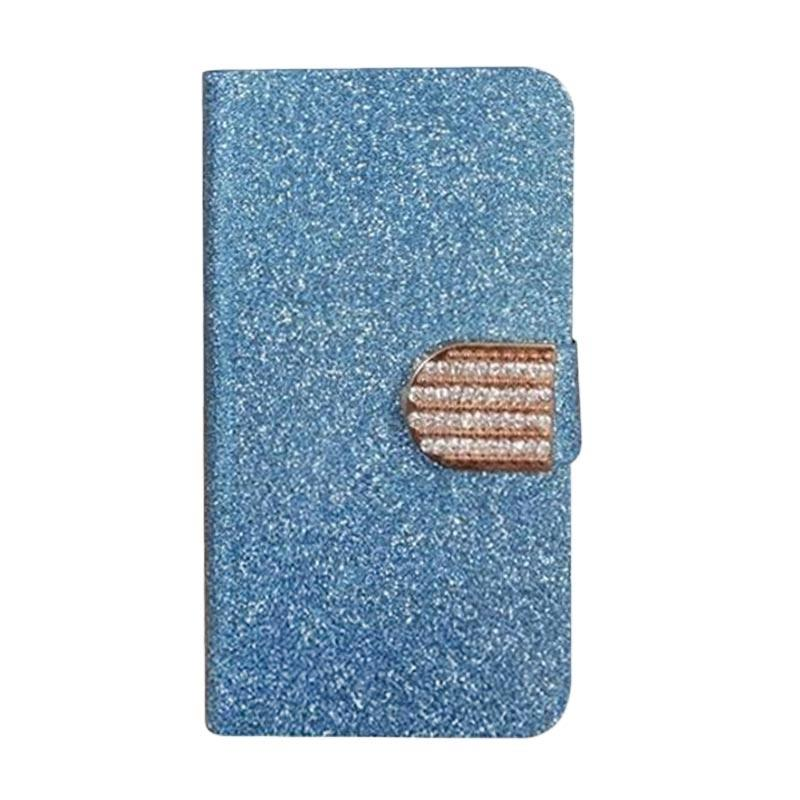 OEM Diamond Flip Cover Casing for HTC Desire Eye - Biru