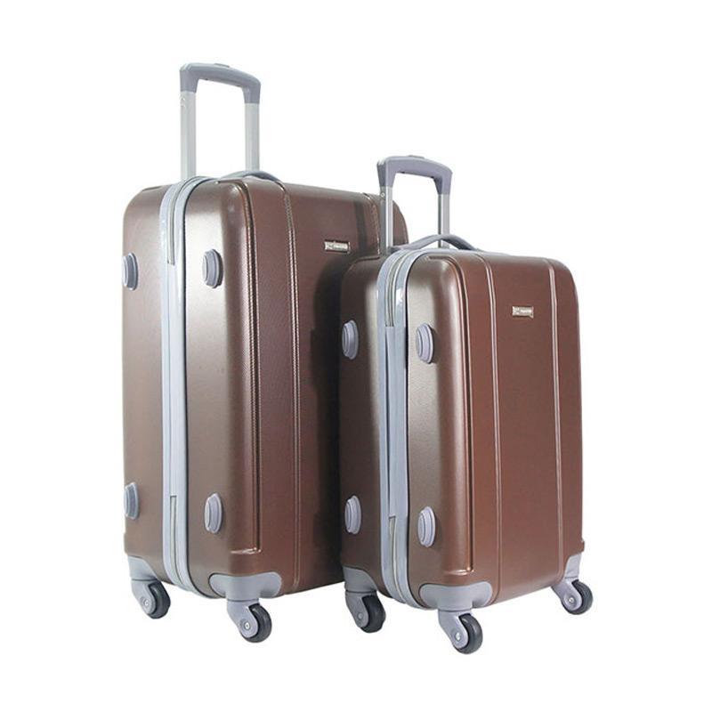 Polo Twin HD 1609 Troley Bag Set - Coffee [20 dan 24 Inch]
