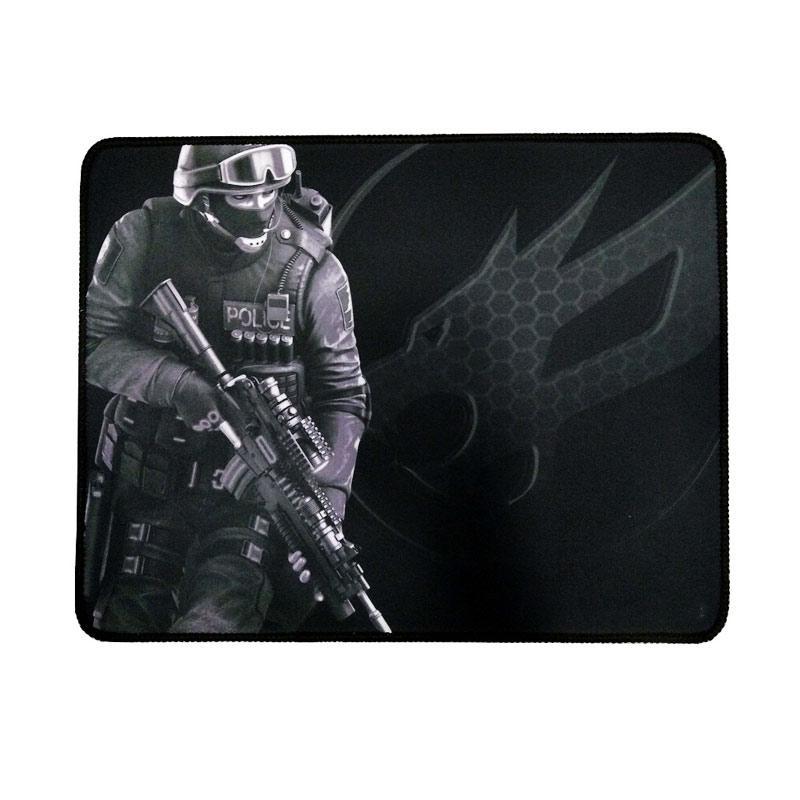 Warwolf Army Gaming Mouse Pad - Putih [Size M]