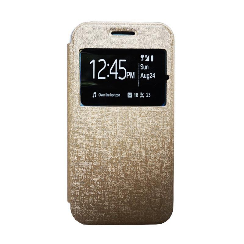 Zagbox Flip Cover Casing for Samsung Galaxy Grand i9082 - Gold