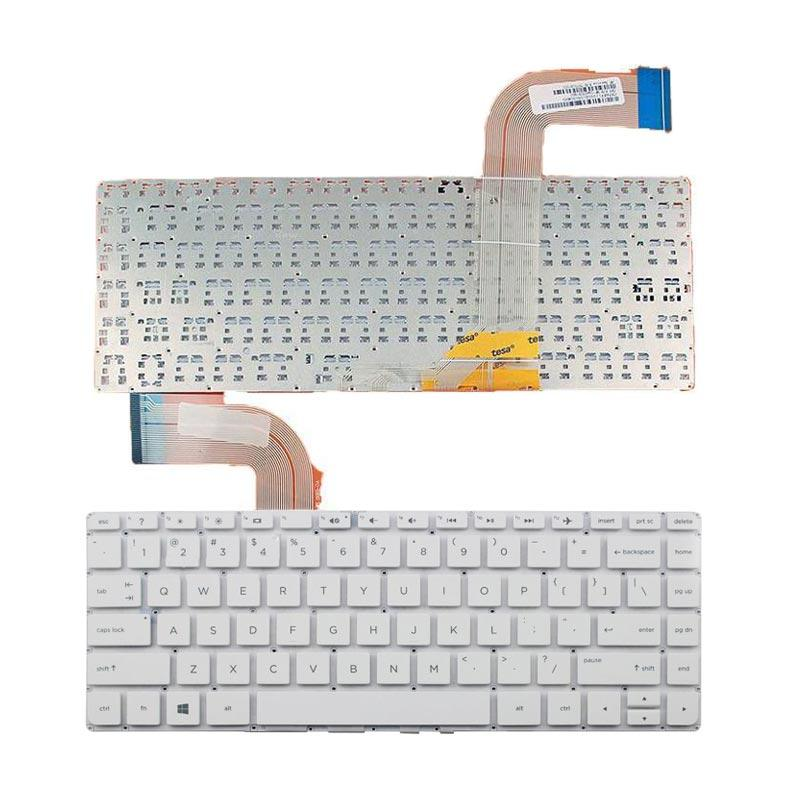 harga HP Keyboard For HP Pavilion 14-V or Sleekbook 14-V - White Blibli.com