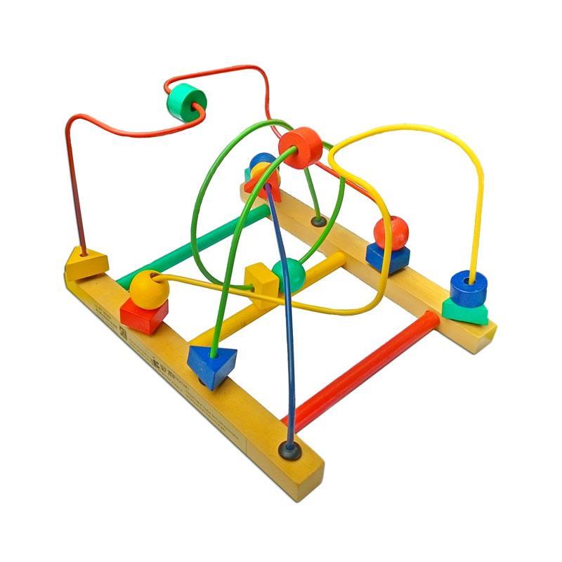 Istana Bintang Kayu Wire Game 4 Line Mainan Edukasi