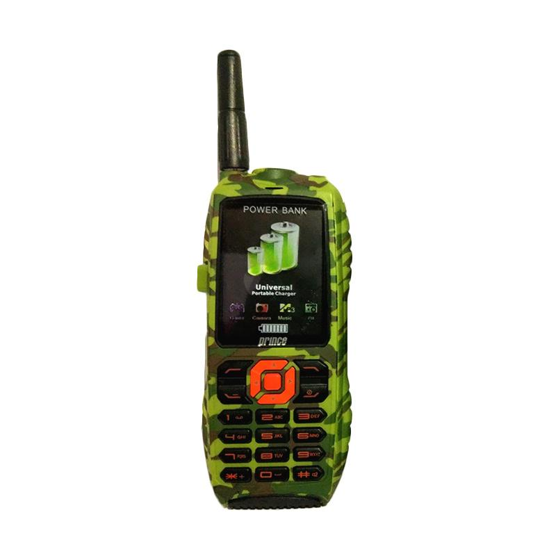 Prince PC-9000 SE Powerbank Handphone - Army Green [10.000 mAh]