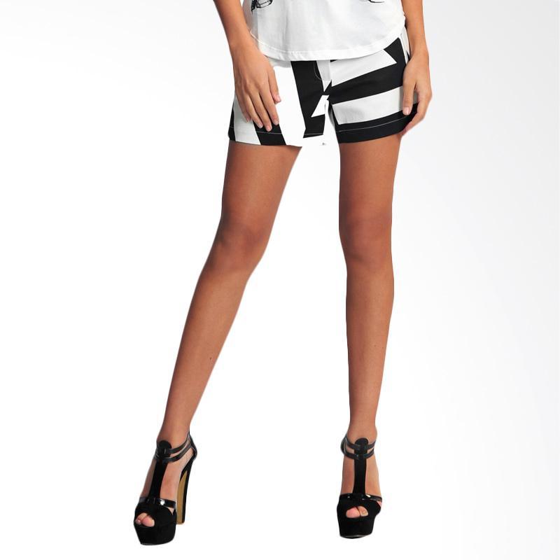 SJO & SIMPAPLY Veneziano Women's Shorts - Black White