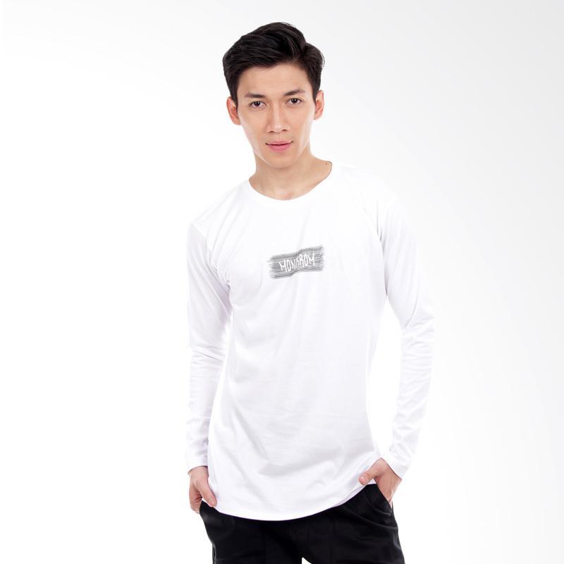 Word.O Monokrom Lengan Panjang T-Shirt - Putih