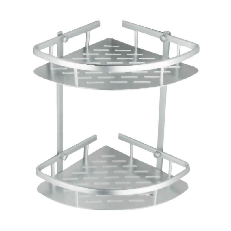 28fashion Rak sudut Dinding Toilet Aluminium