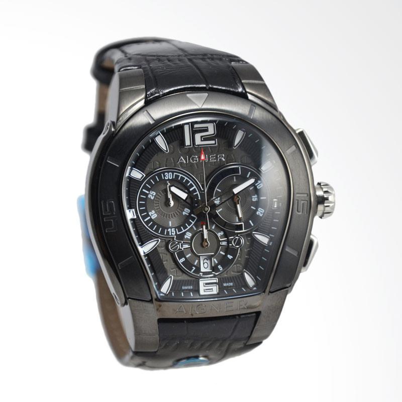 Harga Aigner Palermo Chronograph Jam Tangan Pria - Black A58513 ... 8e3b70e1fd